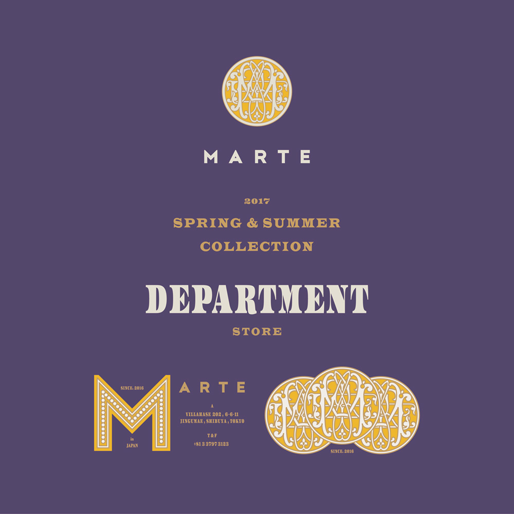 MARTE,野村仁美,ヴィンテージ,DEPARTMENT STORE,デザイン,2017 S/S COLLECTION