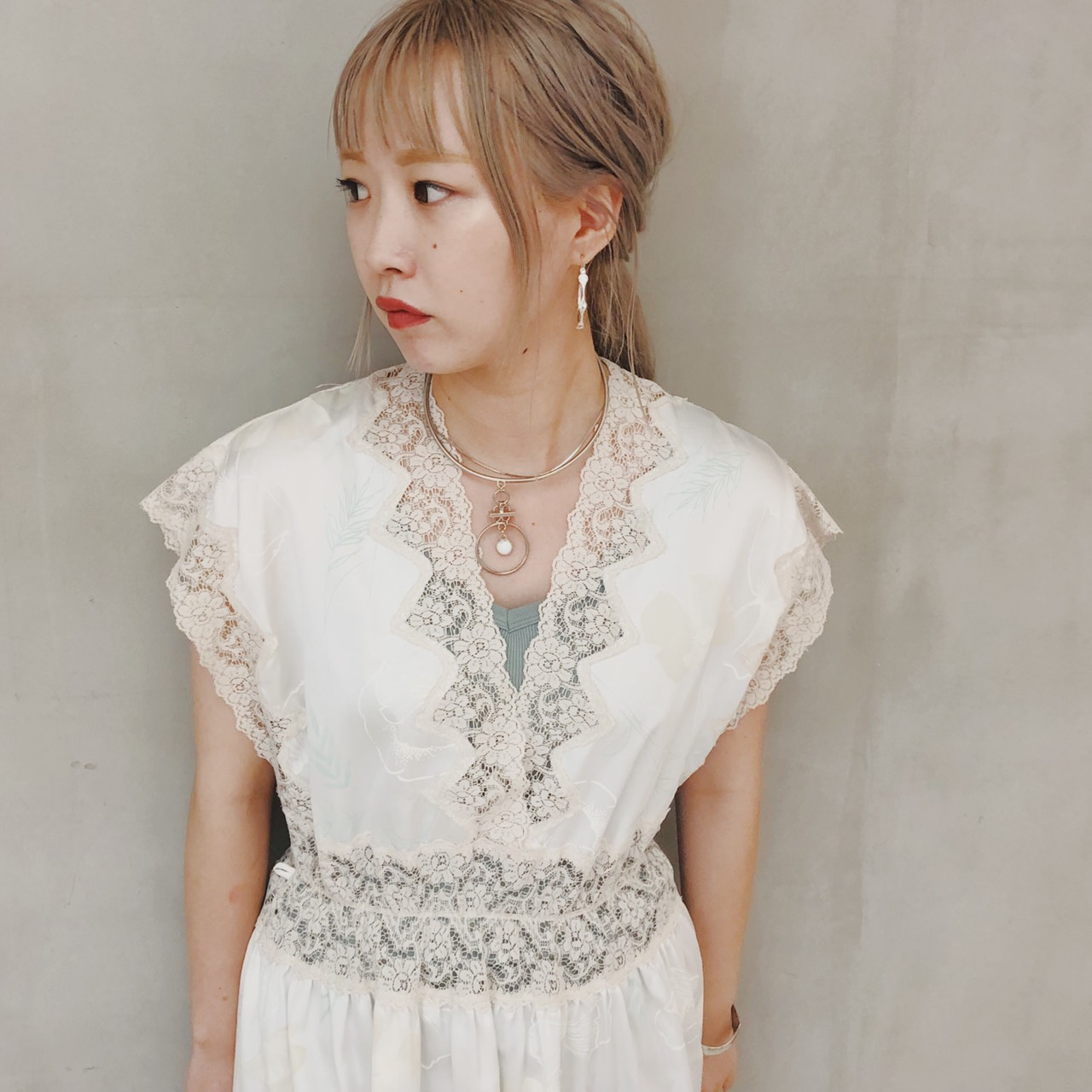 White Lace Long  Onepiece