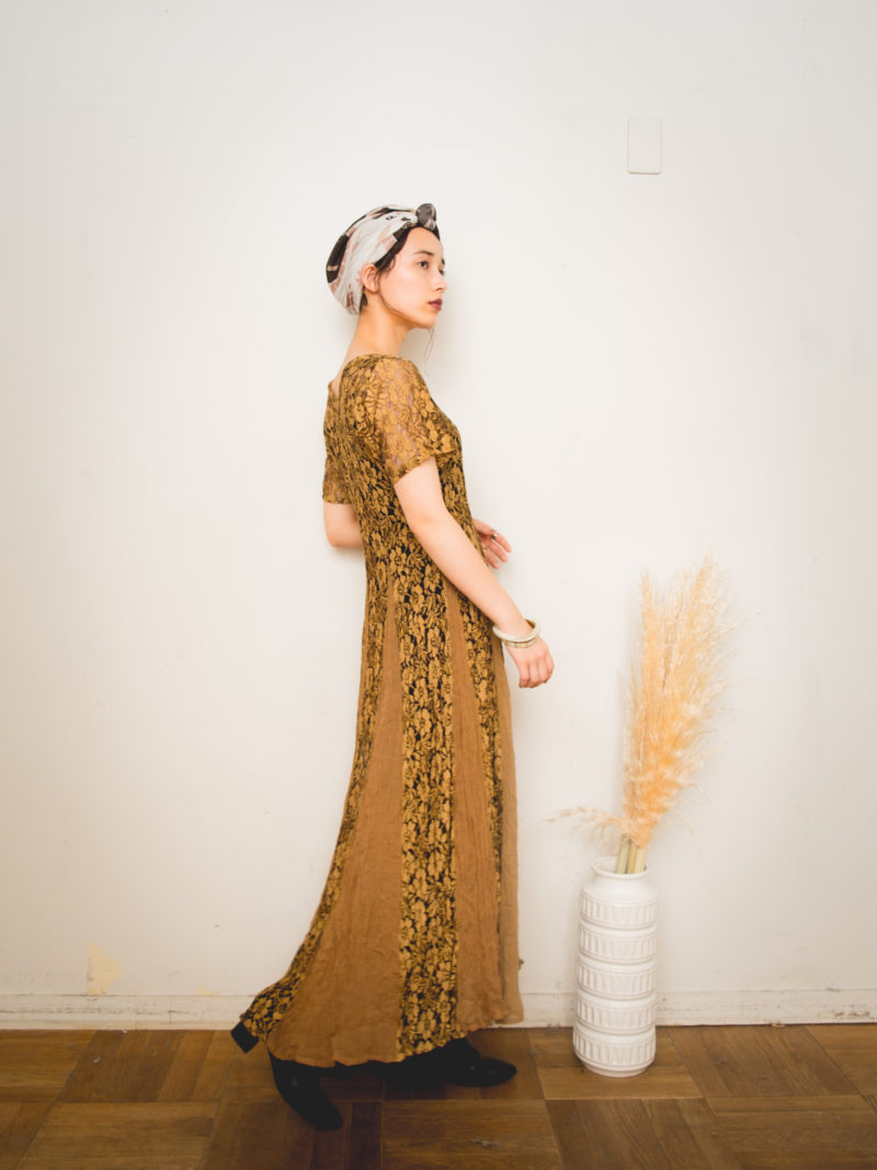 Gold Lace Long One piece