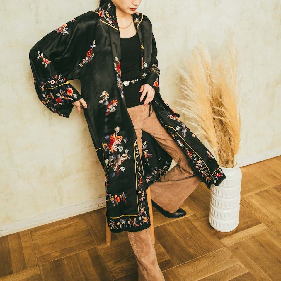 Chinese Vintage Embroidered Gown One piece