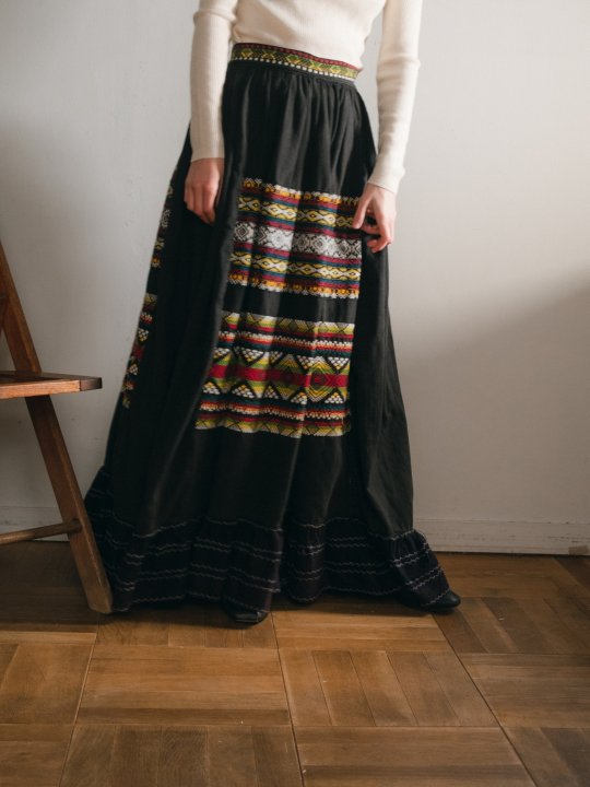 Mexican Embroidered Long Skirt